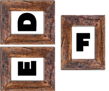 Wood Frame Alphabet & Numbers