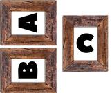 Wood Frame Alphabet & Numbers