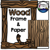 Wood Frame and Background Clipart Paper