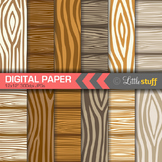 Wood Grain Digital Backgrounds, Wood Pattern Digital Paper