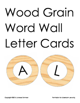 Wood Grain Letter Cards