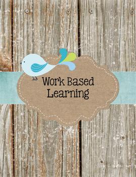Wood Grain and Blue BoHo Bird Work Based Learning (Georgia)