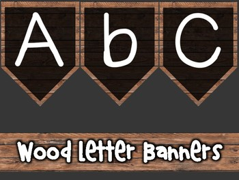 Wood Letter Banners