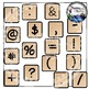 Wood Letter Tiles Clipart
