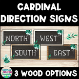 Wood Look Cardinal Direction Signs