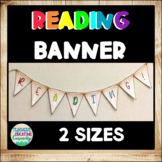 Wood Look Colorful Reading Banner/ Pendants