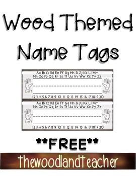 Wood Name Tags *FREEBIE*