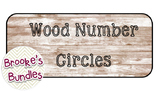 Wood Number Circles