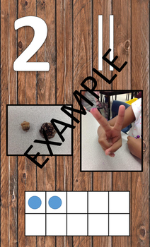 Wood Panel Number Line Posters