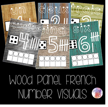 Wood Panel French Number Visuals
