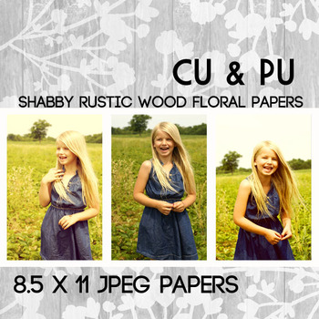 Wood Papers Shabby Chic Digital Paper Pack