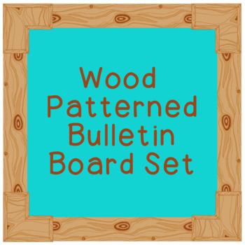 Wood Patterned Bulletin Board Borders Set Hand Drawn