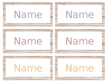 Wood Patterned Nametags