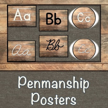 Wood Penmanship Posters