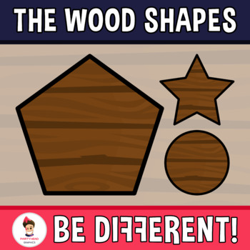 Wood Shapes Clipart