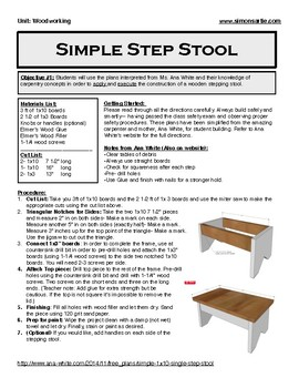 Superb Wood Shop Plans Xtra Simple Step Stool Gamerscity Chair Design For Home Gamerscityorg