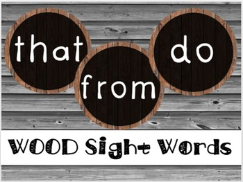 Wood Sight Words