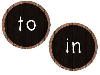 Wood Sight Words
