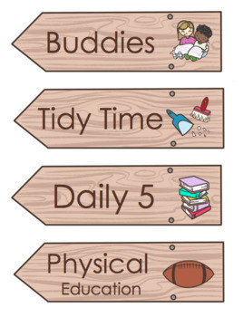 Wood Sign Schedule Cards