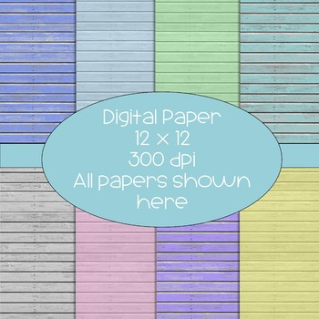 Wood/Stained Look Digital Papers  - 300 dpi 12x12