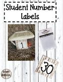 Wood Student Number Labels FREEBIE