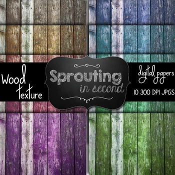 Wood Texture Backgrounds {Digital Papers}