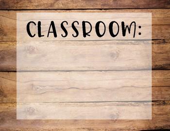 Wood Themed Classroom Decor