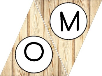 Wood Triangle WELCOME Banners