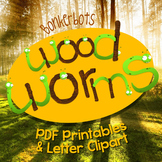 Wood Worms Clipart