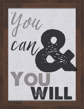 Wood and Canvas Motivational Posters