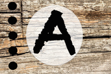 Wood and Chalk Themed Letter Headings