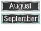 Wood and Chalkboard Calendar Labels