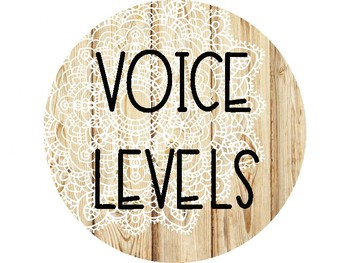 Wood and Lace Voice Level Signs