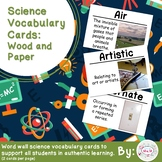 Wood and Paper Science Vocabulary Cards (Large)