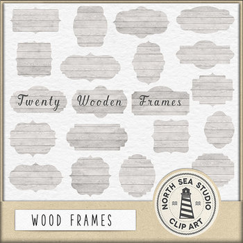Wood frames clipart, wooden borders