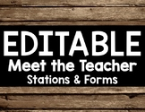 Wood or Rustic Editable Meet the Teacher Bundle with Back