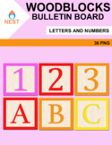 Woodblocks Decoration Letters and Numbers