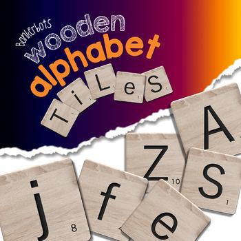 Wooden Alphabet Tiles