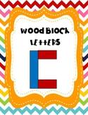 Wooden Block Letter Task Cards