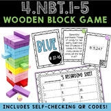 4th Grade Wooden Block Tower Math Game