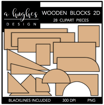 Wooden Blocks 2D {Graphics for Commercial Use}