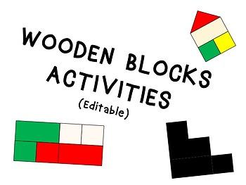 Wooden Blocks Activities (Logic, Counting, Sorting & Visual Discrimination)