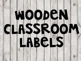 Wooden Classroom Labels