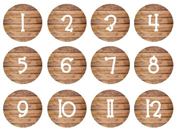 Wooden Classroom Numbers