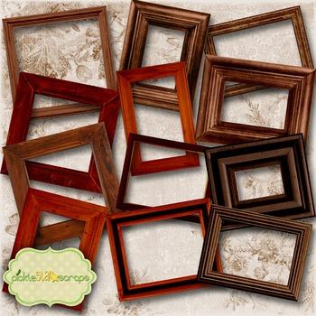 Wooden Collection Vol1 Printable Digital Wooden Frames Printable Wood Frames