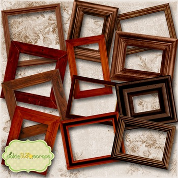Wooden Collection Vol1 Printable Digital Wooden Frames Pri