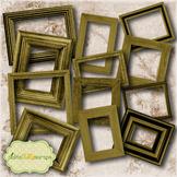 Wooden Collection Vol2 Printable Digital Wooden Frames Pri
