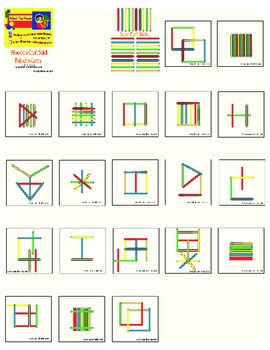 Wooden Craft Stick Pattern Cards-Ages 2-8 Years