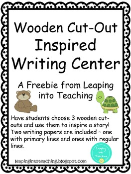 Wooden Cut-Out Writing Center