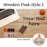 Wooden Desk Style 1 Freebie